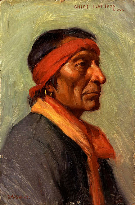Art Prints of Chief Flat Iron by Joseph Henry Sharp