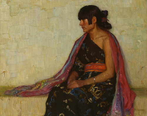 Art Prints of Crucita, Old Hopi Dress by Joseph Henry Sharp