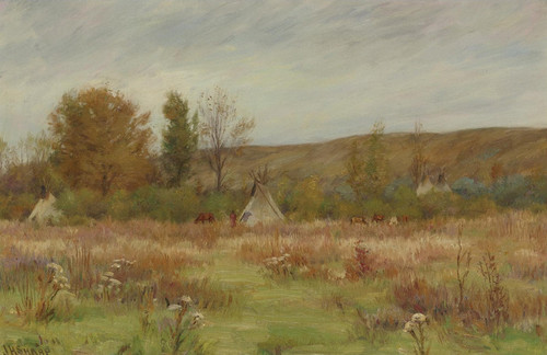 Art Prints of Crow Reservation, Montana by Joseph Henry Sharp