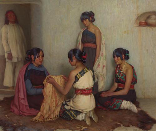 Art Prints of Gift from Cochiti by Joseph Henry Sharp