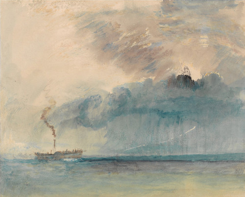Art Prints of A Paddle Steamer in a Storm by William Turner