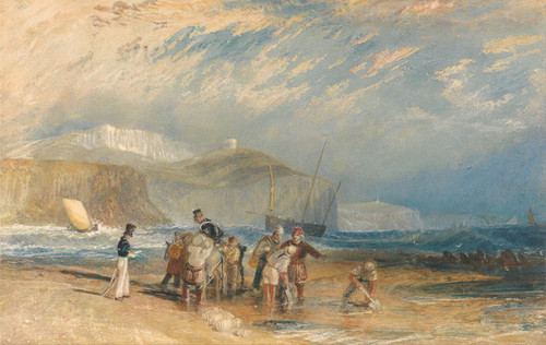 Art Prints of Folkestone Harbor and Coast to Dover by Joseph Mallord William Turner