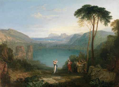 Art Prints of Lake Avernus, Aeneas and the Cumaean Sybil by William Turner