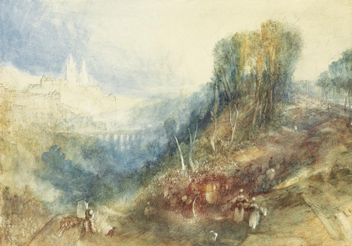 J Rome From Mount Aventine Turner M W Art Print Painting Poster