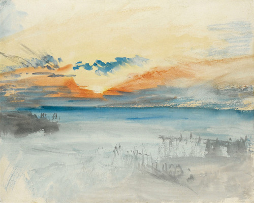 Art Prints of Sunset over Water by Joseph Mallord William Turner