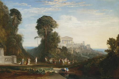 Art Prints of Temple of Jupiter Panellenius Restored by Joseph Mallord William Turner