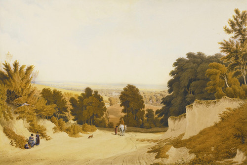 Art Prints of View of Broadway Hill, Worcestershire by Joseph Mallord William Turner