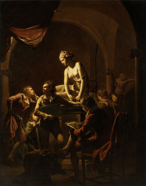 Art Prints of Academy by Lamplight by Joseph Wright of Derby