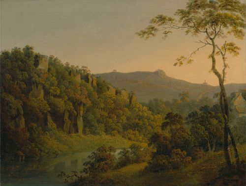 Art Prints of Looking Toward Black Rock Escarpment by Joseph Wright of Derby