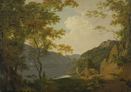Art Prints of Lake Scene by Joseph Wright of Derby