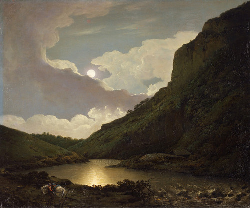 Art Prints of Matlock Tor by Moonlight by Joseph Wright of Derby