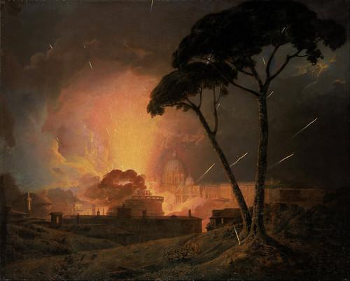 Art Prints of Annual Girandola, Castel Sant Angelo, Rome by Joseph Wright of Derby