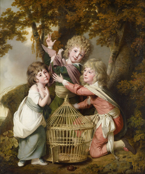 Art Prints of The Synnot Children by Joseph Wright of Derby