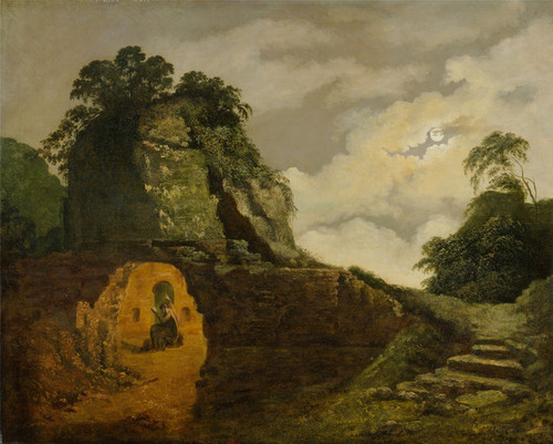 Art Prints of Virgil's Tomb by Moonlight by Joseph Wright of Derby