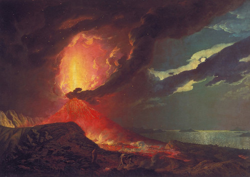 Art Prints of Vesuvius in Eruption, Bay of Naples by Joseph Wright of Derby