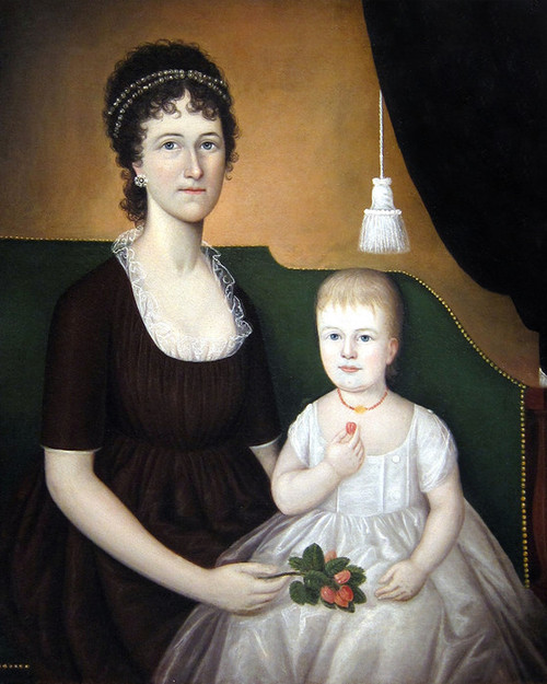 Art Prints of Mrs. Andrew Bedford Bankson and Son by Joshua Johnson