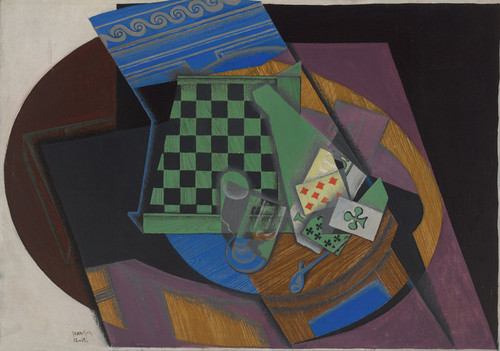 Art Prints of Checkerboard and Playing Cards by Juan Gris