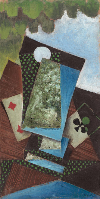 Art Prints of Ace of Clubs and Four Diamonds by Juan Gris