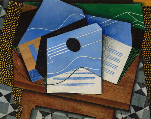 Art Prints of Guitar on a Table by Juan Gris
