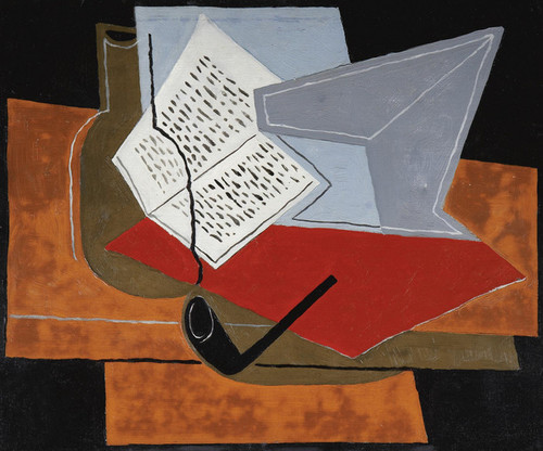 Art Prints of Pipe and a Book by Juan Gris