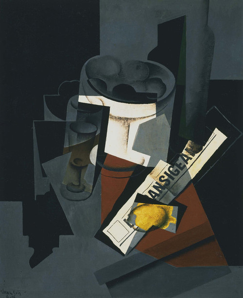 Art Prints of Still Life with Newspaper by Juan Gris