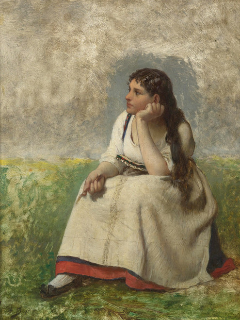 Art Prints of Pensive Girl by Jules Breton