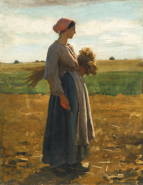 Art Prints of Young Woman in the Fields II by Jules Breton