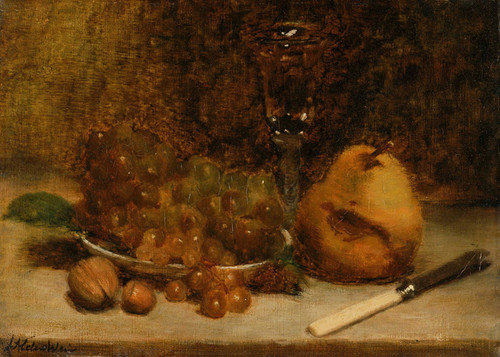 Art Prints of Grapes, Knife and Glass by Julian Alden Weir