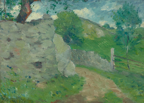 Art Prints of A French Country Lane by Julian Alden Weir