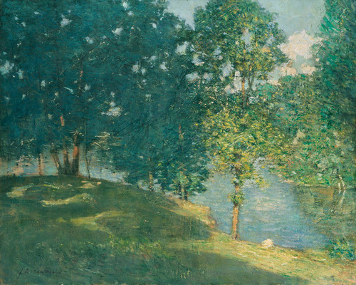 Art Prints of Afternoon by the Pond by Julian Alden Weir