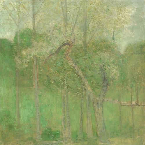 Art Prints of Landscape with Steeple by Julian Alden Weir