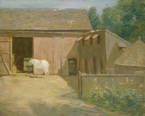 Art Prints of New England Barnyard by Julian Alden Weir