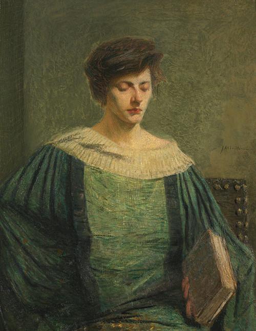Art Prints of Woman Reading by Julian Alden Weir