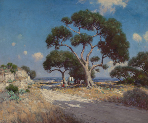 Art Prints of On the Old Blanco Road, Southwest Texas by Julian Onderdonk