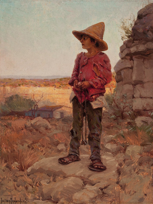 Art Prints of Goat Herder at the San Antonio Quarry by Julian Onderdonk