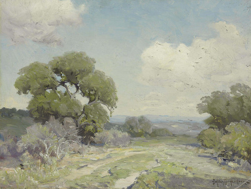 Art Prints of Morning in the Live Oaks, Boerne Texas by Julian Onderdonk