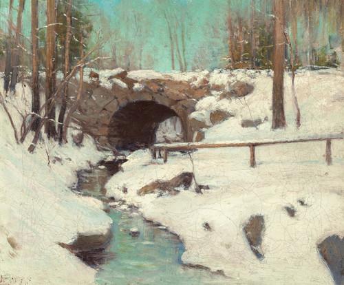 Art Prints of Stone Bridge in Winter, Central Park by Julian Onderdonk