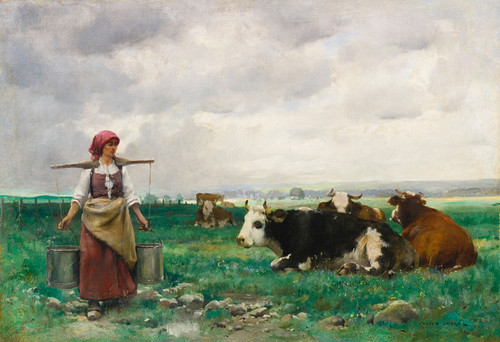 Art Prints of The Milkmaid by Julien Dupre