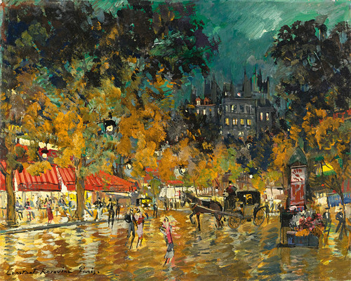 Art Prints of Paris Night Scene by Konstantin Alexeevich Korovin