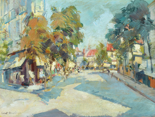Art Prints of Sunny Street by Konstantin Alexeevich Korovin