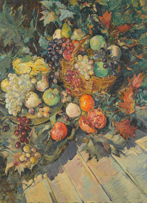 Art Prints of Still Life with Fruit by Konstantin Alexeevich Korovin