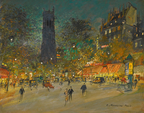Art Prints of Town of Saint Jacques by Konstantin Alexeevich Korovin
