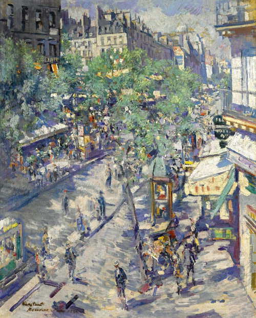 Art Prints of The Boulevard of Sevastopol, Paris by Konstantin Alexeevich Korovin