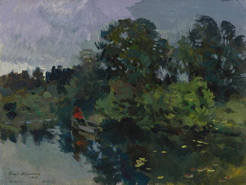 Art Prints of On the Lake with Lily Pads by Konstantin Alexeevich Korovin