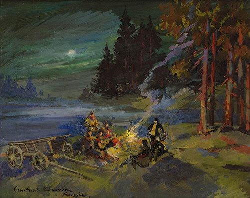 Art Prints of The Campfire by Konstantin Alexeevich Korovin