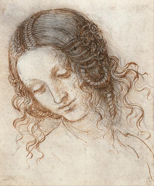 Art Prints of Head of Leda by Leonardo da Vinci