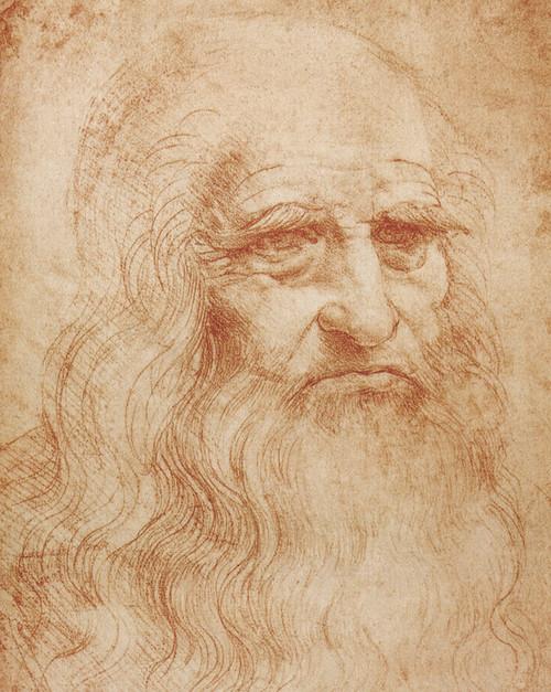 Art Prints of Leonardos Self Portrait 1510-13 by Leonardo da Vinci