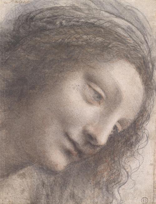 Art Prints of The Head of the Virgin by Leonardo da Vinci