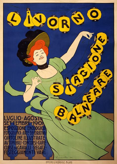 Art Prints of Livorno Stagione Balneare, 1901 by Leonetto Cappiello