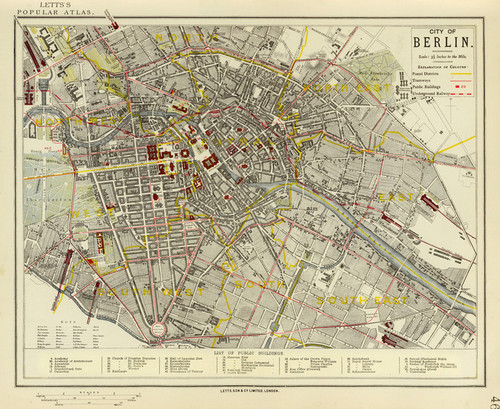 Art Prints of Berlin, 1883 (5371043) by Letts Son and Co.